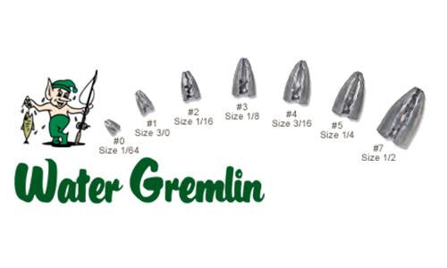 Water Gremlin BULL-SHOT Pinch On Bullet Weights, 1/2 oz., Zip Lip Pack of 7 #PBS-7