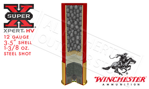"12 Gauge - Winchester Super X Xpert High Velocity Waterfowl Shells, 3-1/2"" #2 or #BB Shot, 1-3/8 oz. 1550fps, Box of 25"