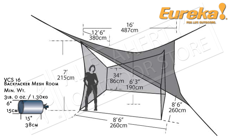 Eureka VCS 16 Backpacker's Mesh Room #2699753