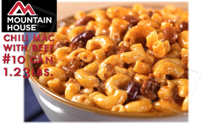 Mountain House Can, Chili Mac with Beef, 10 Servings, 1.23lbs #30128