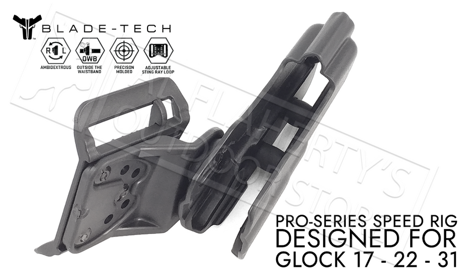 Blade-Tech Pro-Series Speed Rig Holster, for Glock 17/22/31, D/OS with Sting Ray Loop #HOLX001349207899