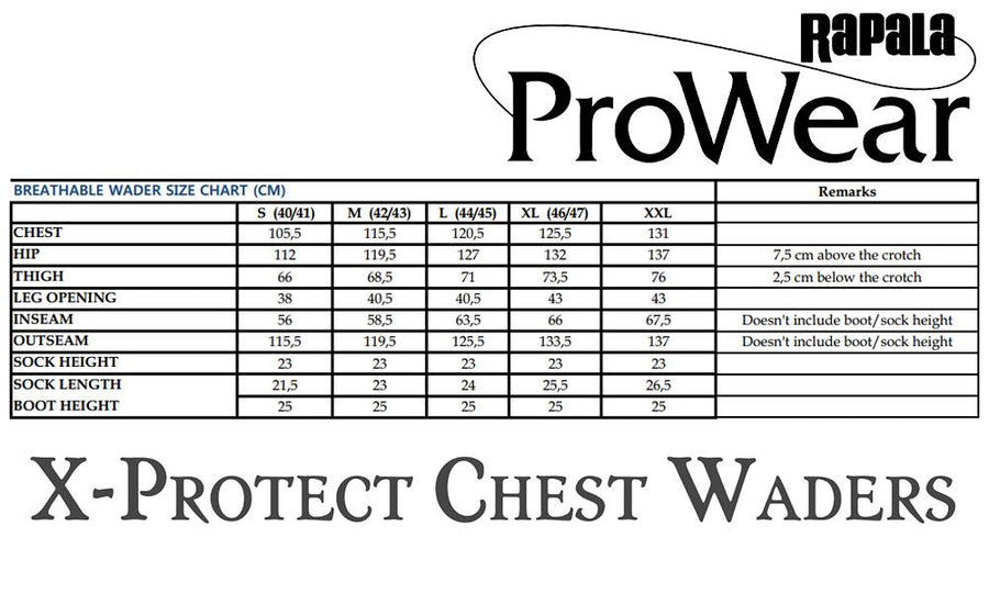 Rapala ProWear X-Protect Chest Waders, Medium to Extra-Large #XPCW