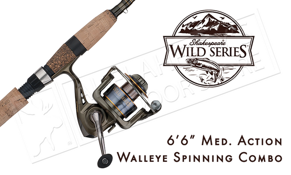 Shakespeare Wild Series Walleye Combo #WILDWYE662M30