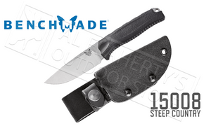 Benchmade Steep Country Hunting Knife, Black #15008-BLK