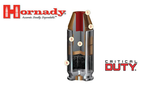 <b>(Store Pickup only)</b><br>Hornady 9mm, Critical Duty FlexLock Features