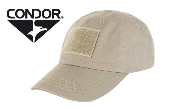 Condor TC Tactical Cap - Tan with Patch Panels