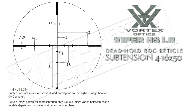 Vortex Viper HS LR 4-16x50mm Scope with BDC Reticle #VHS-4307-LR