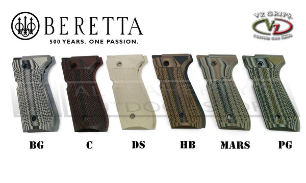 VZ Grips - Beretta 92 Tactical Slants G10 Grips, Multiple Colours #B92-TS