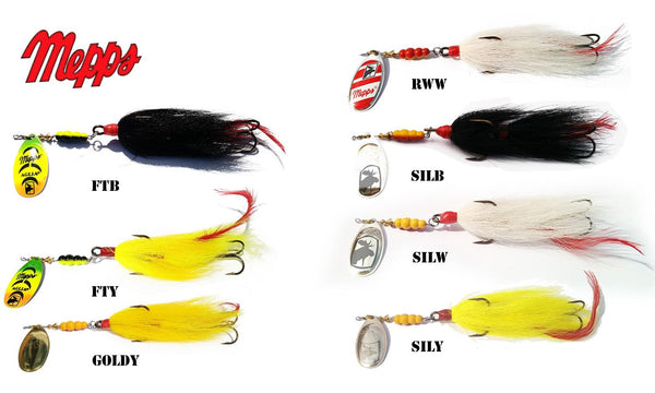Mepps Bucktail Musky Killer, Tandem Hooks, 1-1/3 oz. #B5MT