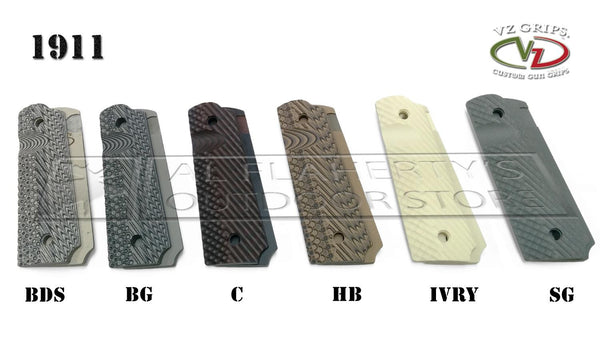 VZ Grips - 1911 Operator II Grips, G10 or Carbon Fiber, Thumb Notch and Ambi Safety Cut #O2-A