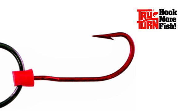 Tru Turn Trailer Hooks - Blood Red, Size 2/0 & 3/0, Packs of 5 #183ZS