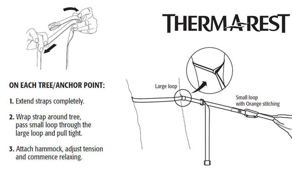 Therm-a-Rest Slacker Suspenders Hammock Hanging Kit #06190