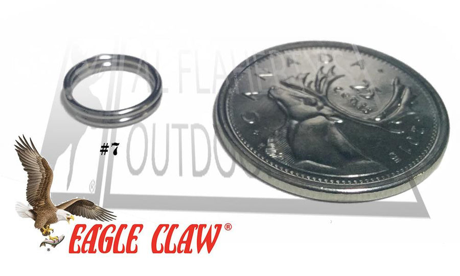 Eagle Claw Split Rings, Nickel Finish, Sizes 3 to 7 #01143