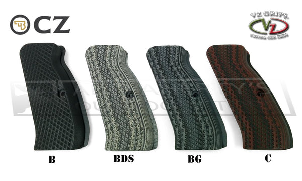 VZ Grips - CZ 75 Diamond Backs G10 Grips, Multiple Colours #CZ75-DB
