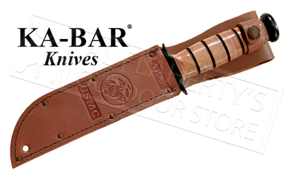 "KA-BAR Short KA-BAR USMC, Serrated 5.25"" #1252"