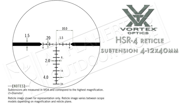 Vortex Razor HD LH 3-15x42mm Scope with HSR-4 MOA Reticle #RZR-1572