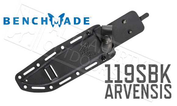 Benchmade 119SBK Arvensis Knife with Serrated Blade by Sibert