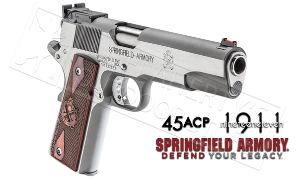 Springfield Armory 1911 Range Officer Stainless Steel- 45ACP #P19124LP