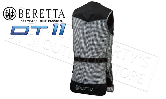 Beretta DT11 Shooting Vest, Black & Gray Sizes M-2XL #GT011021130944