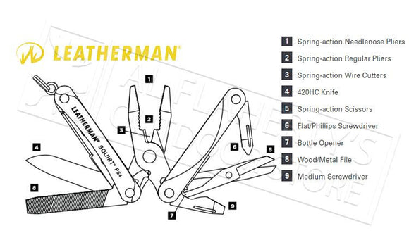 Leatherman Squirt PS4 #831233 Multi Tool