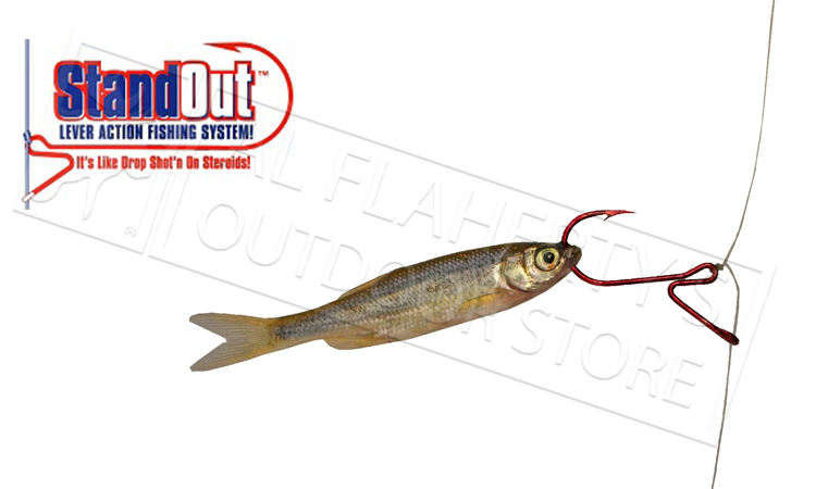 Standout drop shot hooks for walleye bass or perch sizes for Fishing hook sizes for bass