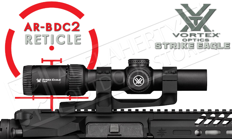 Vortex Strike Eagle Scope 1-8x24mm with AR-BDC2 Reticle #SE-1824-1