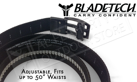 "Blade-Tech UCB Titan Belt in Black, Adjustable up to 50"" #UCB-1-1-1"