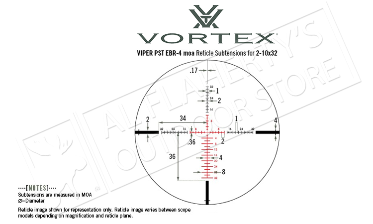 Vortex Viper PST Scope 2-10x32mm FFP with EBR-4 MOA Reticle #PST-2101