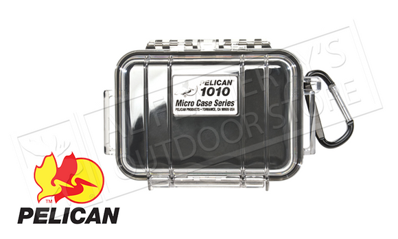 Pelican 1010 Protector Micro Case, Black or Black with Clear Lid #1010026