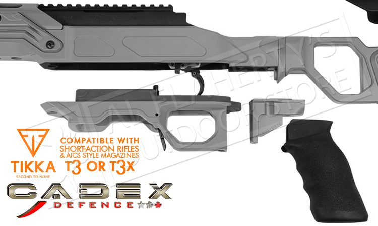 Cadex Lite Competition Chassis for Tikka T3 Short Action with AICS Magazines #STKFCP-TIK-RH-SA
