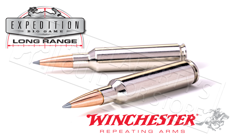 Winchester 300 WIN MAG Accubond Expedition LR, Polymer Tipped Boat-Tail 190 Grain Box of 20 #S300LR