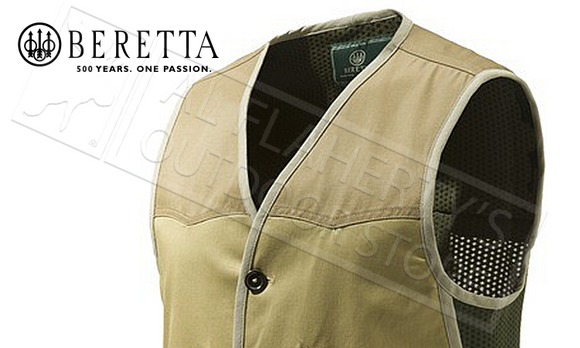 Beretta Country Hunting Vest in Prairie Sand, Sizes 50-56 Italian #GU902T1293