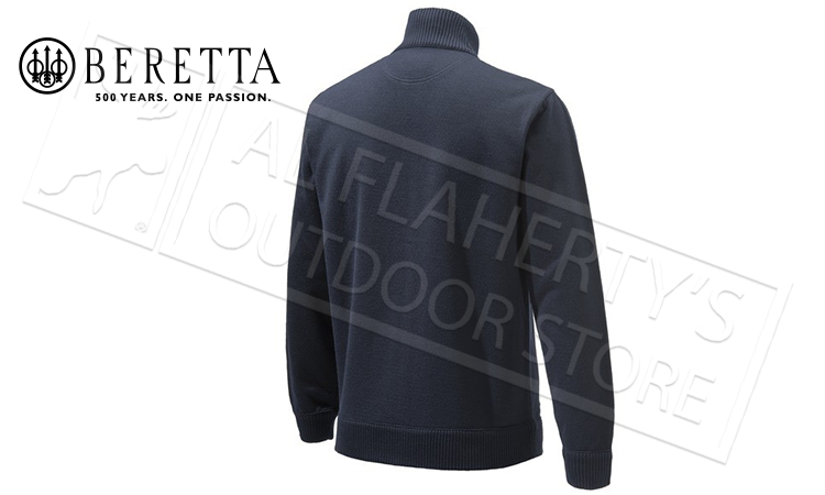 Beretta Techno Windshield Full-Zip Sweater in Blue Total Eclipse #PU411T1201