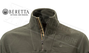 Beretta Half Zip Fleece in Chocolate, M-3XL #P3311T1434081C