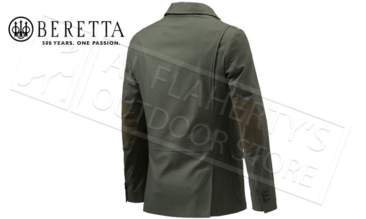 Beretta St James Cotton Jacket in Rosin Green, Sizes 54-56 Italian #GU742T1299070B