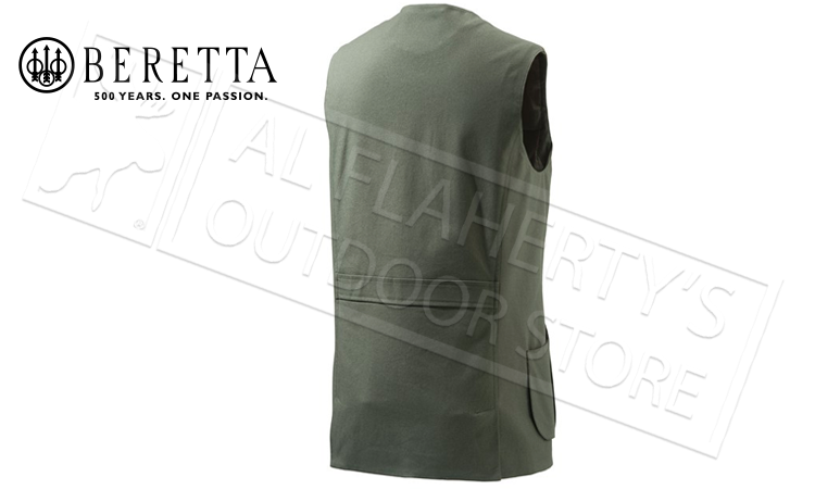 Beretta St James Cotton Vest in Rosin Green, Sizes 54-56 Italian #GU752T1295070B