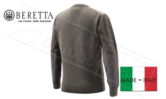 Beretta V-Neck Sweater in Avio Brown, M-XL #PU451T1194