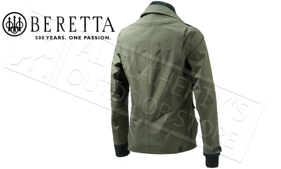 Beretta Walnut Jacket in Olive Green with GORE-TEX, Sizes 54-56 Italian #GU842T12960706
