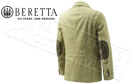 Beretta Chestnut Fancy Jacket in Country Cotton, Sizes 56-58 Italian #GU922T1302071G