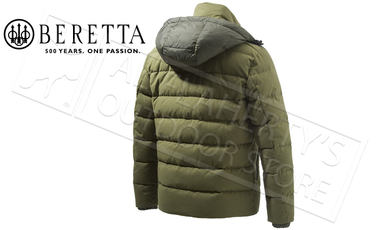Beretta Terragon Down Cotton Jacket in Green, Sizes 54-58 Italian #GU213T14170898