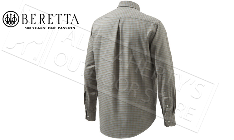 Beretta Elm BD Classic Shirt in Blue Check, Sizes 42-44 Italian #LU531T14260564