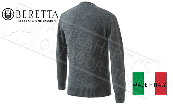 Beretta Pheasant V Neck Sweater in Grey, Sizes L-XL #PU032T14800998