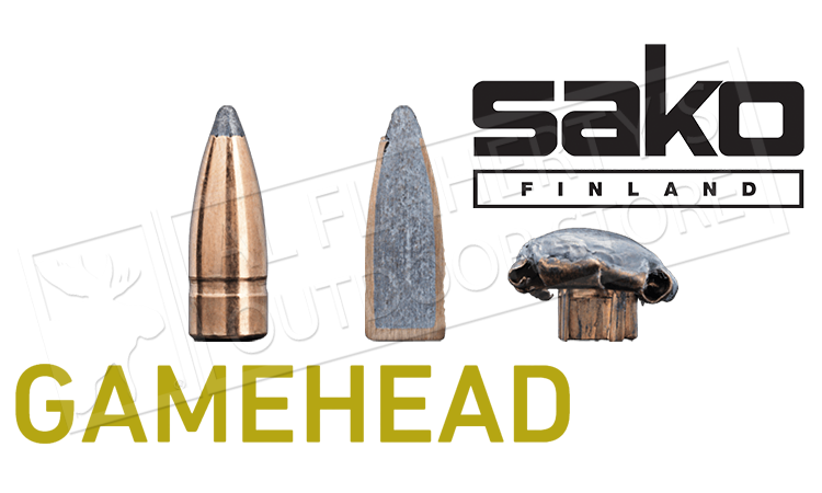 Sako 223 REM Gamehead, JSP 55 Grain Box of 20 #110G