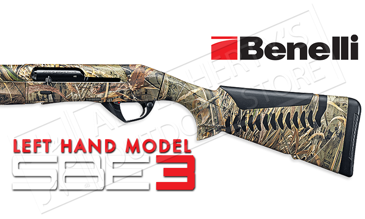 "Benelli Super Black Eagle 3 Shotgun Left Hand Model, 12 Gauge with 3.5"" Chamber, Max5 #10375"
