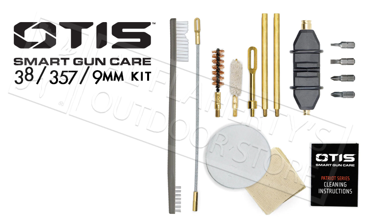 Otis Patriot Gun Cleaning Kit - 9mm and 38 Caliber #FG-701-9MM