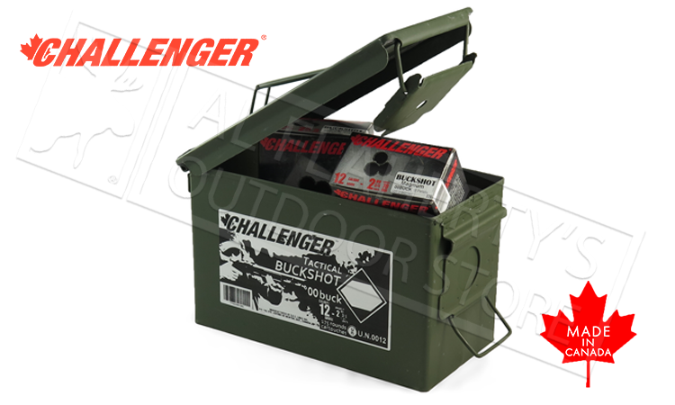 "12 Gauge - Challenger Target Buckshot, 2-3/4"" 00-Buck 9-Pellet Can of 175 Shells #04100"