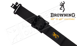 "Browning All Season Web Sling for Rifles and Shotguns, 26"" to 40"" AdjustableBlack #122399925"