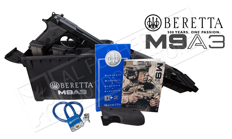 Beretta M9A3 Black Edition 9mm Pistol, Made in Italy