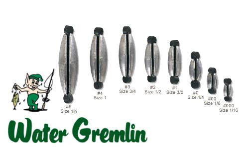 Water Gremlin Rubbercor Sinkers, 1/4 oz., Zip Lip Pack of 5 #PRC-0