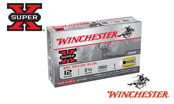 "<b>(Store Pickup Only)</b><br>12 Gauge, Winchester Super X Sabot Slugs, 2-3/4"", 1 oz., 1350 fps, Box of 5 #XRS12"